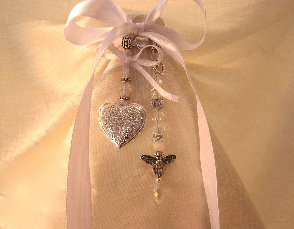 Ribboned Locket & Angel