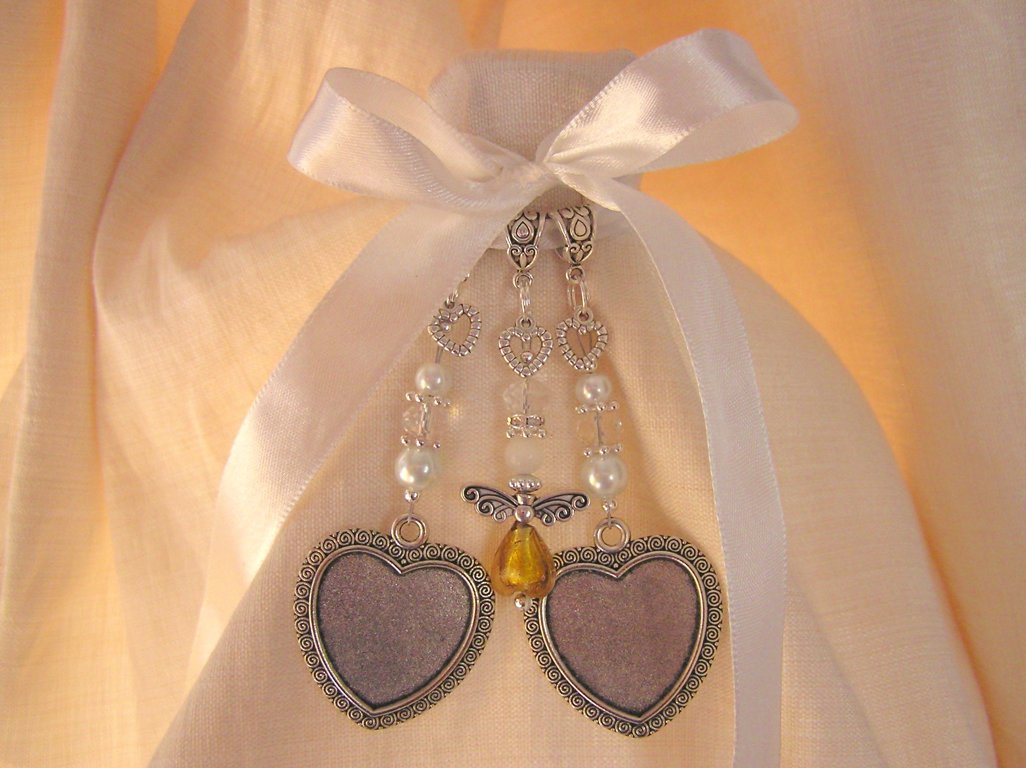 Gold Angel Hearts