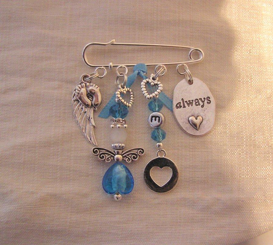 Kilt Pin initial Blue