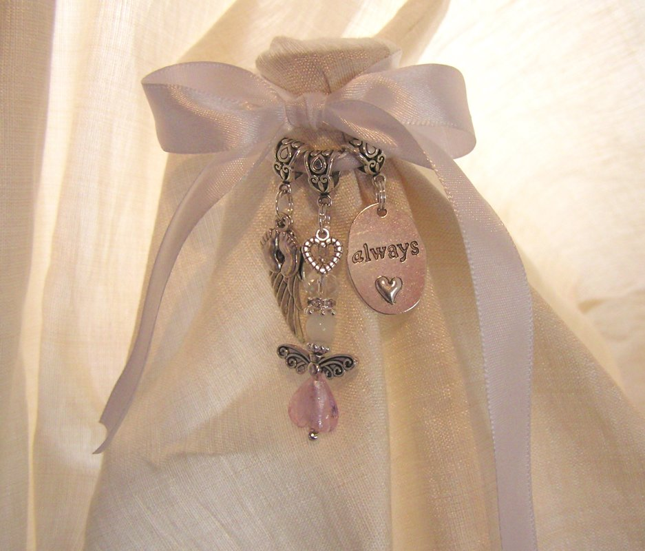 Pink Angel Baby Girl Remembrance Charm