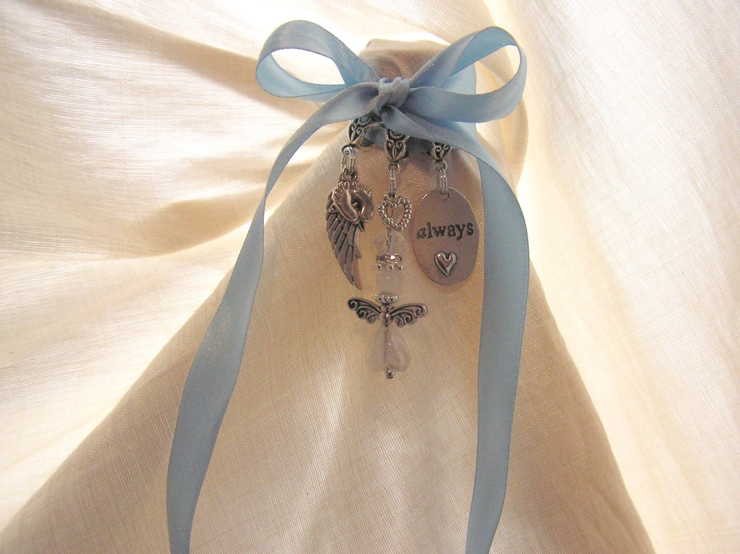 White Angel Baby Remembrance Charm